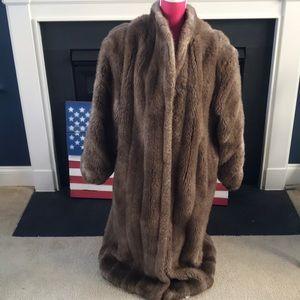 Jackets & Blazers - Faux fur floor length coat